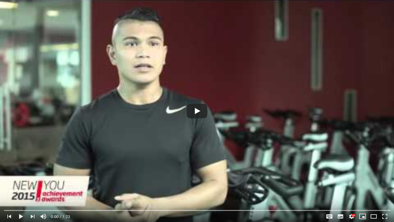 Fitness First New You Awards 2015 – Staff Winner